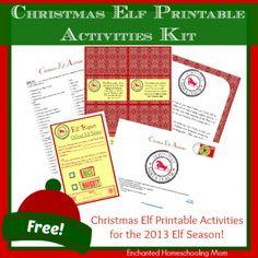 Free Christmas Elf Printable Activities Kit