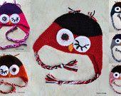Winking Owl Hat - Owl Hat - Crochet Owl Hat - Custom Crochet Owl Hat - Owl Hat for Girls - Owl Hat for Boys - Baby Owl Hat - Newborn Owl Hat - pinned by pin4etsy.com