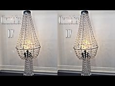 Chandelier DIY - Dollar tree Dupe, using Dollar Tree Wire Basket - YouTube