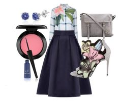 """""""Tryna Blouse"""" by tinkletonk on Polyvore featuring Ted Baker, MAC Cosmetics, Coast, Pierre Hardy and Effy Jewelry"""
