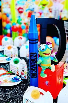 Check out this fun Muppet Babies 1st birthday party! The centerpiece is fab! See more party ideas and share yours at CatchMyParty.com #catchmyparty #partyideas #muppetbabies #muppetbabiesparty #1stbirthdayparty Baby 1st Birthday, 1st Birthday Parties, Baby Photo Gallery, Cookie Monster Party, Sesame Street Party, Muppet Babies, 1st Birthdays, Party Centerpieces, Party Ideas