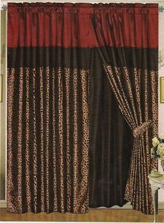 Zebra Print Curtains   Leopard Print Curtains - Polyvore