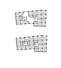 Grundriss Erdgeschoss, Grundriss Regelgeschoss_e2a