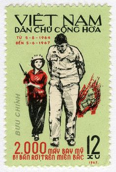 Vietnamese postage stamp commemorating the 2000th US Plane Shot Down