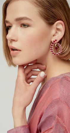 Ruby and Diamond Earrings by Sutra Resort 2019