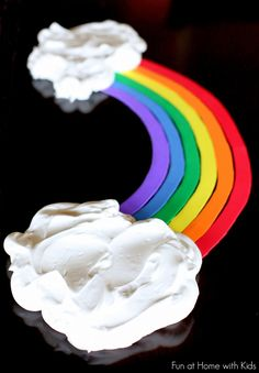 Toddler Rainbow Sensory Play from Fun at Home with Kids.  This looks fun! I like playing with shaving cream (so do the children)!