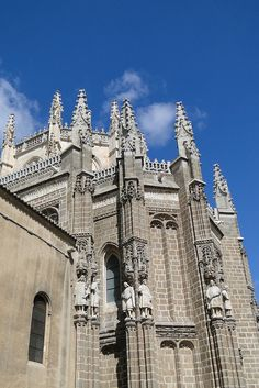 Primate Cathedral of Saint Mary of Toledo  -  one of three 13th-century High Gothic cathedrals in Spain  -  built 1226-1493