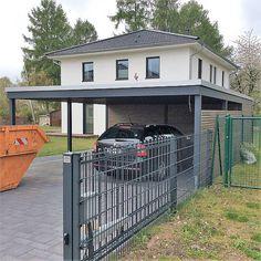 Metal Barn Homes, Metal Building Homes, Pole Barn Homes, Building A House, Carport Modern, Carport Garage, Pole Barn House Plans, Barndominium Floor Plans, Carport Designs