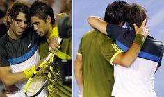 Fernando Verdasco, Australian Open 2009 Fernando Verdasco, Australian Open, Rafael Nadal, Hug, Tennis, Cuddle