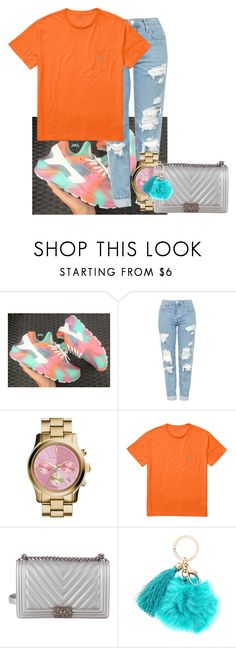 """""""Kayla💕"""" by justflawlizz ❤ liked on Polyvore featuring Topshop, MICHAEL Michael Kors, Ralph Lauren and Chanel"""