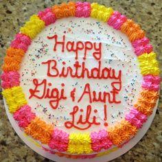 Bright birthday cake