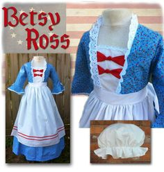 betsy ross costume | Betsy Ross colonial dress; custom made-to-order costumes, also ...