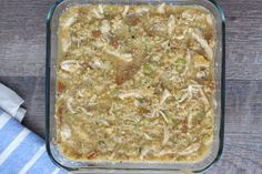 Cornbread Dressing with Chicken (Small Batch) - Healthier Dishes