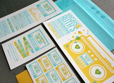 Boombox Love Mix Wedding Invitations, these are gorgeous!