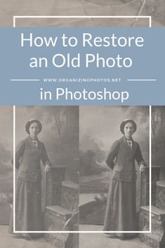 How to Quickly Restore An Old Photo in Photoshop Before you can retouch anything, the first step there is to digitize the photo you want to restore. Photoshop Design, Photoshop Tutorial, Adobe Photoshop, Lightroom, Photoshop Actions, Advanced Photoshop, Photoshop Elements, Photoshop Website, Photoshop Effects