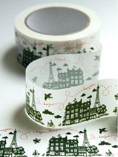 Un Dimanche à Paris Ribbon Tape  Would be beautiful on www.claradeparis.com 's packaging!