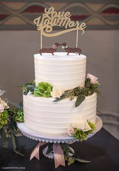 Whimsical cake toppers @LiaGriffith #bridal #weddingplanning