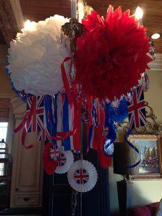 Ideas for Union Jack  British parties  Decorate your chandelier ,