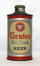 Very Rare Trenton Old Stock Beer 12 oz. J-Spout Cone Top Beer Can-Trenton, N.J.