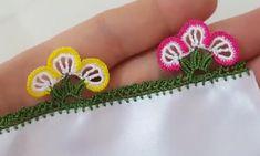uc-yaprakli-kibar-tig-oyasi-yapilisi Needle Lace, Needlework, Diy And Crafts, Crochet Earrings, Crochet Patterns, Embroidery, Creative, Handmade, Jewelry