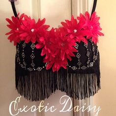 Classy flower rave bra for EDC and ultra by ExoticDaisy on Etsy, $80.00