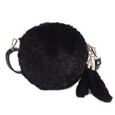 11.12$  Buy now - http://dinoy.justgood.pw/go.php?t=200539201 - Faux Fur Tassels Round Crossbody Bag 11.12$