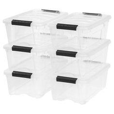 IRIS 5.7 Qt Plastic Storage Bin - 10 Pack