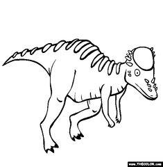 knabstrupper hengst dinosaur coloring pages | Parasaurolophus Coloring Page | Dinosaur | Dinosaur ...