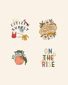 Designs for Citizen Supply — Chez Núñez Logo Branding, Logos, Branding Design, Graphic Design Personal Branding, Lettering, Typography Logo, Typography Design, Create My Logo, Inspiration Logo Design