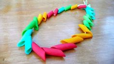 Colored Pasta Jewelry Made Easy by froggooseandbear #Pasta_Jewelry #KIds #Crafts #froggooseandbear