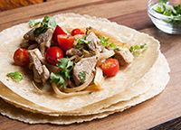 Pork Tacos with Cilantro and Lime from our newsletter -- This family-friendly recipe has variations for every phase.