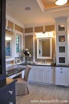Bathroom sitting area