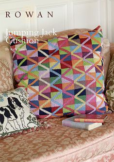 Kaffe Fassett has designed this cushion in his own unique and inimitable style, exclusively for the web site using Cotton Glace | English Yarns