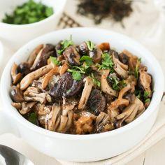 Keemun Mushroom Risotto. Earthy black tea creates a deep base of flavor in this savory vegetarian dish.