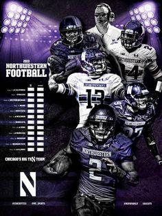 Northwestern 2013 Football poster | Sports Marketing Creative