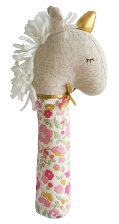 Yvette Unicorn Squeaker makes a cute and entertaining squeaking sound when shaken or squeezed. She...