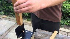 A short clip to show just how easy and effective this kindling splitter is to use. The wide base and heavy duty construction ensures there is no movement in . Kindling Splitter, Log Splitter, Firewood Logs, Pallet Crafts, Diy Crafts, Wood Shed, Rocket Stoves, Homemade Tools, Fire Pit Backyard