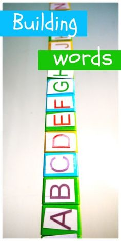 Building Words - Spelling Activity with Blocks
