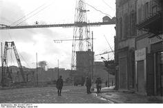 Marseille sous l'occupation. Südfrankreich, Marseille.- Hafenviertel. Blick auf den Pont Transbordeur; PK 649