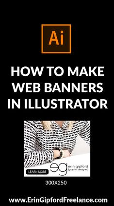 Web banners are a hot commodity these days. You see them on virtually every website you visit advertising something. They come in all shapes and sizes. I create a ton of web banners for one of my clients and I use Illustrator... every... time! #illustrator #graphicdesign #webbanners