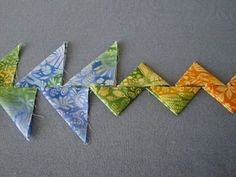 """""""Continuous Prairie Point"""" tutorial (from Quilt Sampler Journal)."""