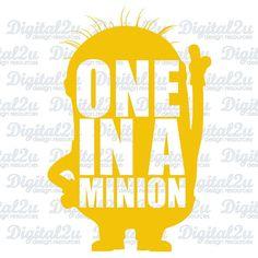 Minion SVG Silhouette Monogram Iron On Vinyl Shirt by digital2u