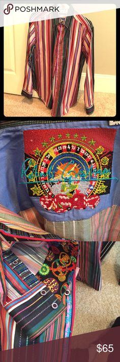 Robert Graham long sleeve shirt Multicolored striped Robert Graham shirt.  Worn a couple of times, excellent condition!! Robert Graham Shirts Dress Shirts