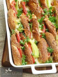 Fırında Kahvaltılık Simit - Bagel sandwiches