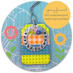 Learn how to stamp a curved line in metal from this cute necklace tutorial.