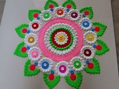 Very big and very beautiful Diwali special rangoli design by DEEPIKA PANT Diwali Special Rangoli Design, Easy Rangoli Designs Diwali, Indian Rangoli Designs, Rangoli Designs Latest, Simple Rangoli Designs Images, Free Hand Rangoli Design, Small Rangoli Design, Rangoli Ideas, Colorful Rangoli Designs