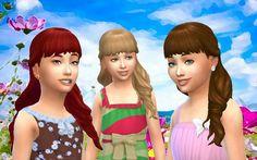 Sims 4 Hairs ~ Mystufforigin: Long Wavy Half Up for Girls Sims Love, The Sims, Maxis, Balage Hair, Sims 4 Children, Children Hair, Download Hair, Sims 4 Mm Cc, Sims Hair