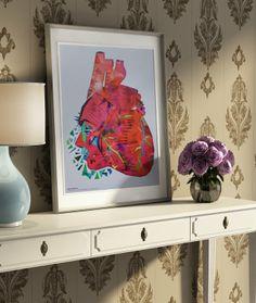 Loveis {my} heart (ozapadaniu się w Serce. Ku rozpaczy, ku rozpaczy... ) (proj. Typohole. Illustracja