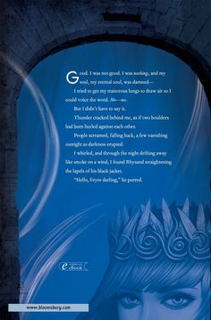 """Excerpt on back cover Rhysand: """"Hello , Feyre darling."""""""