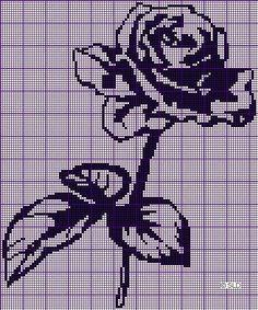 Filet crochet rose top...f